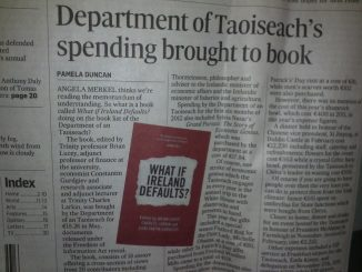 Our own book refernced in the Irish Times