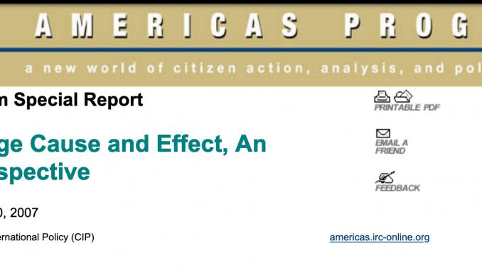 Americas Program Special Report Tony Phillips